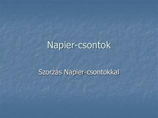 Napier-csontok