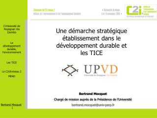 Bertrand Mocquet Charg  de mission aupr s de la Pr sidence de l Universit  bertrand.mocquetuniv-perp.fr
