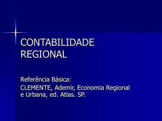 CONTABILIDADE REGIONAL