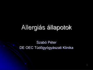 Allergi s  llapotok