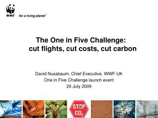 The One in Five Challenge:   cut flights, cut costs, cut carbon