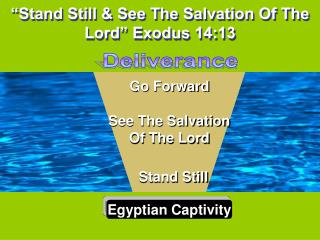 Stand Still  See The Salvation Of The Lord  Exodus 14:13