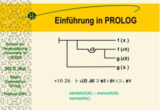 Einf hrung in PROLOG