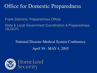 Office for Domestic Preparedness