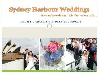 wedding boat hire sydney