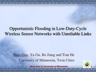 Shuo Guo  University of Minnesota