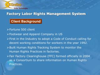 Factory Labor Rights Management System
