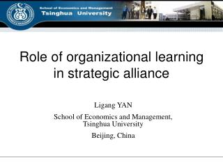 Role of organizational learning in strategic alliance