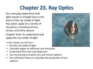 Chapter 23. Ray Optics