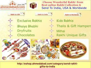 send rakhi to ahmedabad,rakhi gifts to ahmedabad