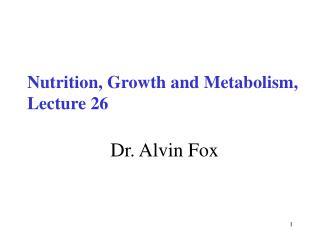 Dr. Alvin Fox