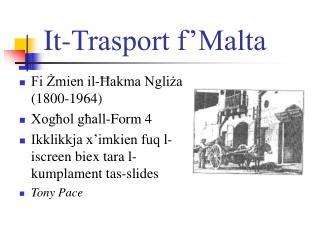 It-Trasport f Malta