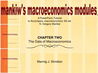 CHAPTER TWO The Data of Macroeconomics