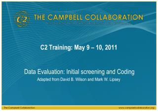 C2 Training: May 9   10, 2011