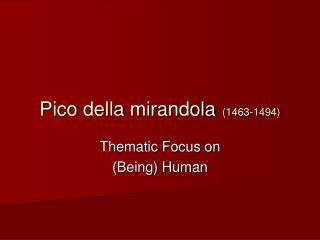 Pico della mirandola 1463-1494