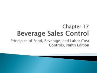 Chapter 17 Beverage Sales Control