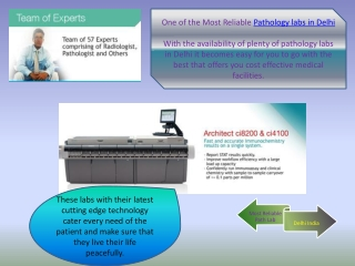 One of the Most Reliable Pathology labs in Delhi