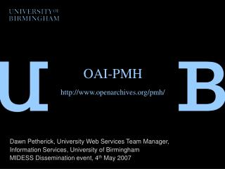OAI-PMH   openarchives