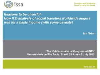Reasons to be cheerful:  How ILO analysis of social transfers worldwide augurs well for a basic income with some caveats