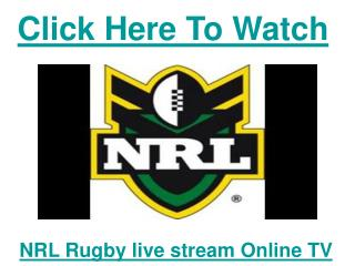 watch brisbane broncos vs cronulla sharks nrl live streaming