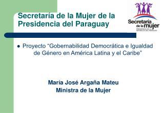 Secretar a de la Mujer de la Presidencia del Paraguay