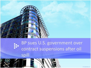 BP sues U.S. government over contract suspensions after oil