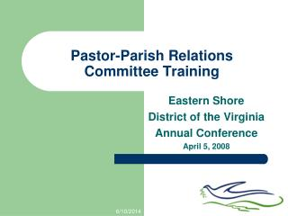 Pastor-Parish Relations Committee Training