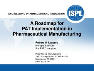 A Roadmap for PAT Implementation in Pharmaceutical Manufacturing