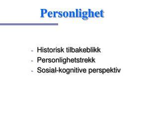 Personlighet