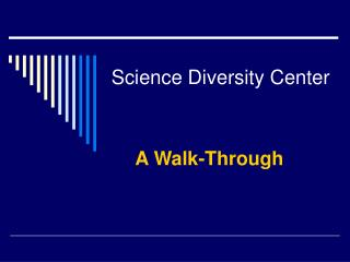 Science Diversity Center