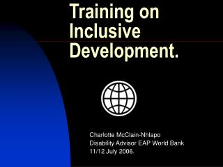 Training on  Inclusive Development.