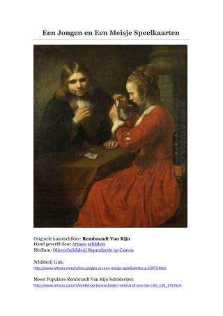 Een Jongen en Een Meisje Speelkaarten