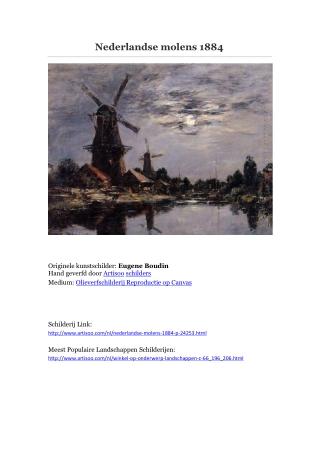 Nederlandse molens 1884