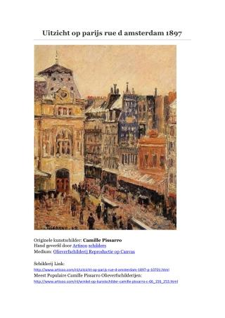 Uitzicht op parijs rue d amsterdam 1897