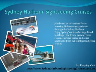 sightseeing cruises sydney
