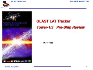 GLAST LAT Tracker Tower-1