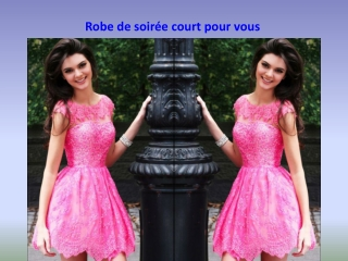 robe courte cocktail