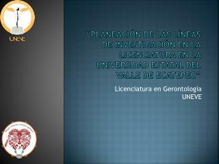 PLANEACI N DE LAS L NEAS DE INVESTIGACI N EN LA LICENCIATURA EN LA UNIVERSIDAD ESTATAL DEL VALLE DE ECATEPEC
