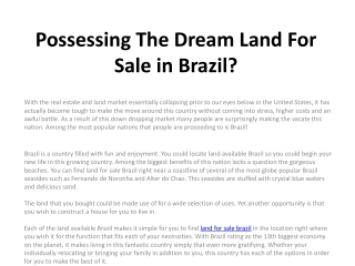 property for sale in brazil