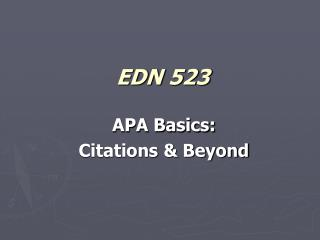EDN 523