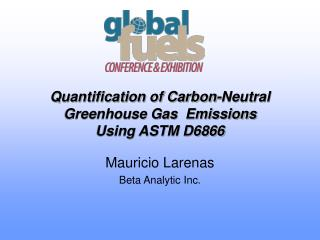 Quantification of Carbon-Neutral Greenhouse Gas  Emissions  Using ASTM D6866