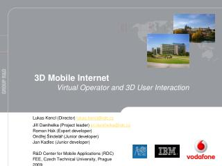 3D Mobile Internet  Virtual Operator and 3D User Interaction