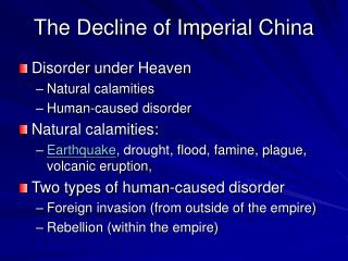 The Decline of Imperial China