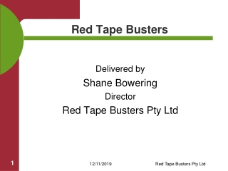 Red Tape Busters – Volunteering Sunny Coast