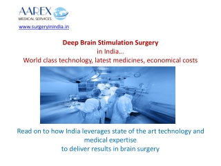 Deep Brain Stimulation Surgery in India