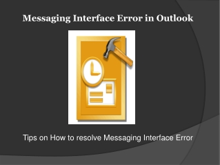 How to resolve messaging interface error in outlook