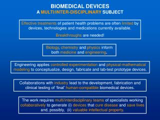 BIOMEDICAL DEVICES A MULTI