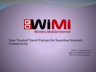 GoWiMi - Mobile Internet for Travelers to US