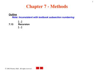 Chapter 7 - Methods