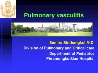 Pulmonary vasculitis